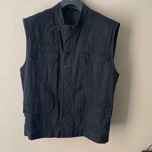🧨 G By Guess Black Canvas Tactical Vest